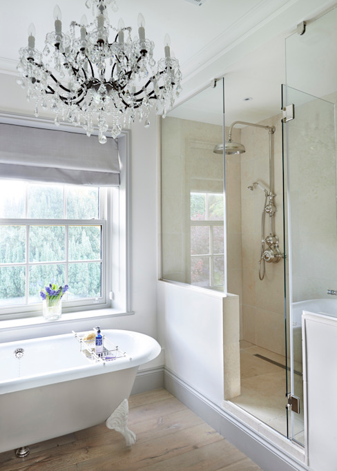 Drummonds Case Study: Georgian Farmhouse, Surrey por Drummonds Bathrooms Campestre