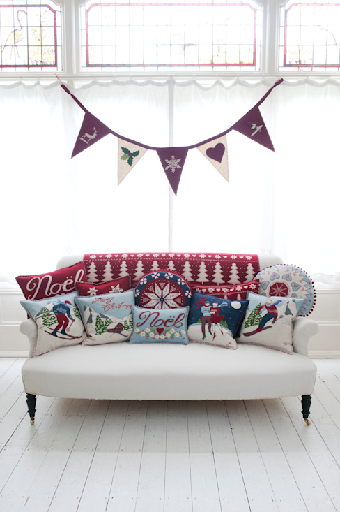 Alpine Christmas Cushions, Stockings and Decoration Jan Constantine Classic style living room