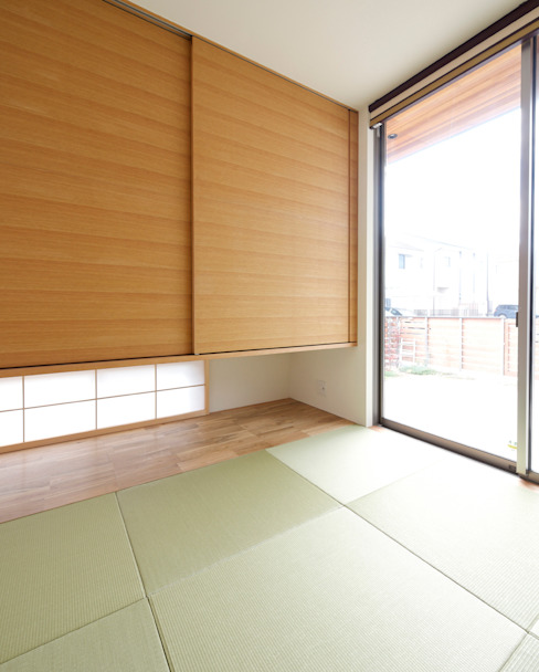 Modern style media rooms by H建築スタジオ Modern