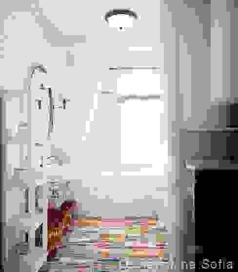 Проект санузла. Ванная в средиземноморском стиле от Частный дизайнер и декоратор Девятайкина Софья Средиземноморский