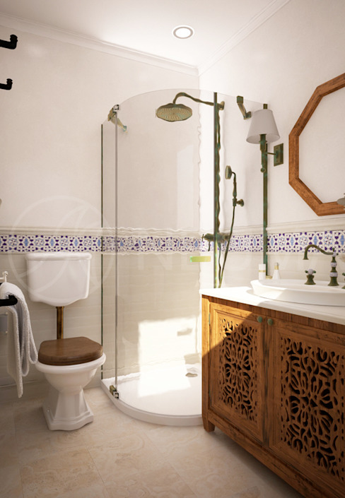 Bathroom by Anton Neumark, Mediterranean