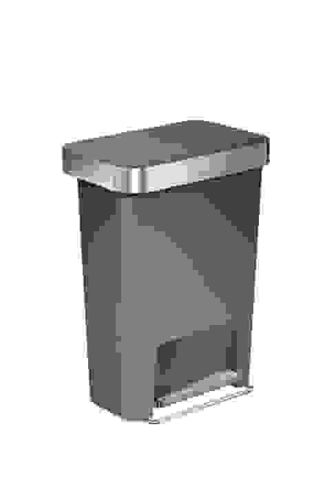 55 litre rectangular pedal bin  with liner pocket: modern  by simplehuman, Modern