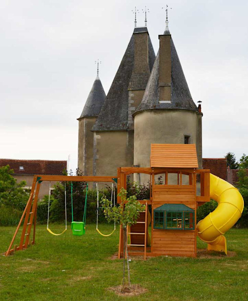 Climbing Frame Castle Classic style garden by Selwood Products Ltd Classic