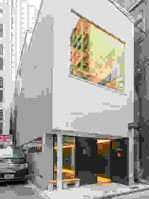 北側ファサード モダンな 家 の 前見建築計画一級建築士事務所(Fuminori MAEMI architect office) モダン