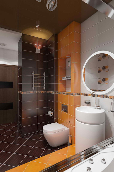 Eclectic style bathroom by архитектор-дизайнер Алтоцкий Михаил (Altotskiy Mikhail) Eclectic
