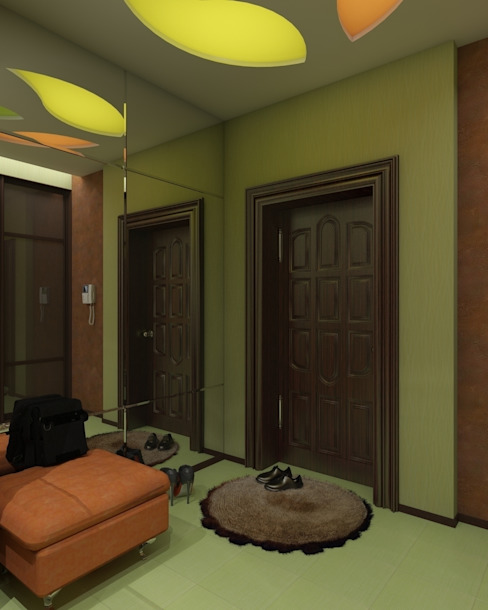 Eclectic style corridor, hallway & stairs by архитектор-дизайнер Алтоцкий Михаил (Altotskiy Mikhail) Eclectic