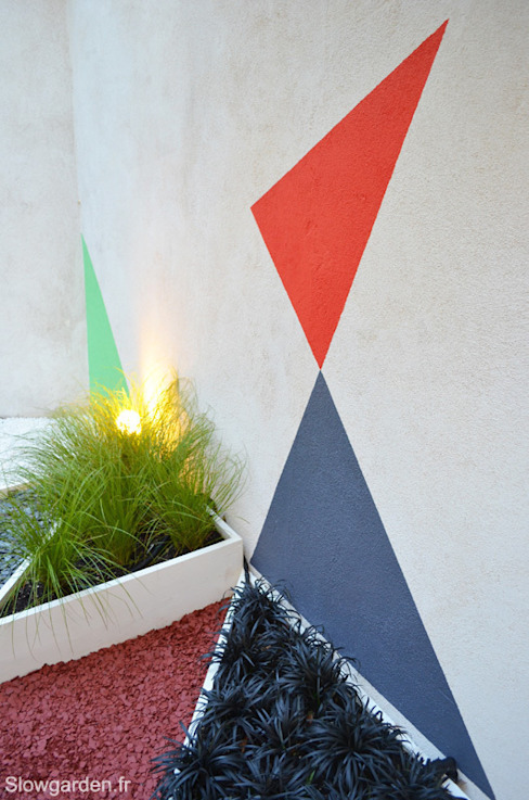 Plantations et triangles Slowgarden Jardin moderne