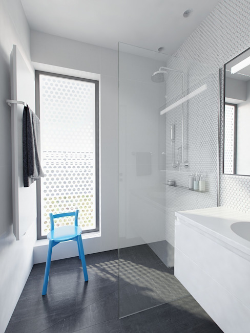 Baños de estilo minimalista de INT2architecture Minimalista