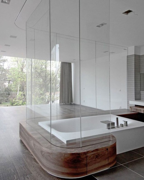 Moderne badkamers van HS Architekten BDA Modern