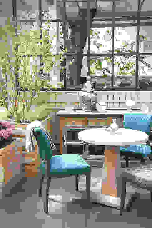 """Летняя веранда кафе """"Модус"""" 2014 г. Балкон и веранда в стиле лофт от NIdesign Лофт"""