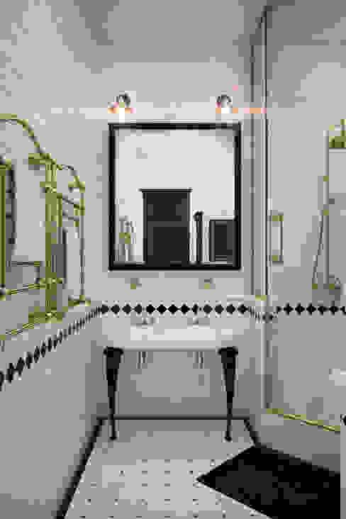 Апартаменты  для молодой пары в Москве: Ванные комнаты в . Автор – Anna Vladimirova, Лофт
