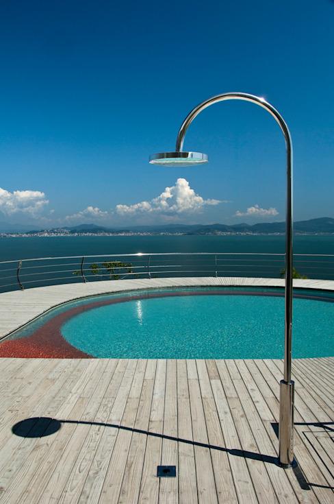 Albercas modernas de Mantovani e Rita Arquitetura Moderno