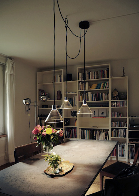 CONE LIGHT SERIE01 TYP D Minimalist dining room by Bureau Purée Minimalist