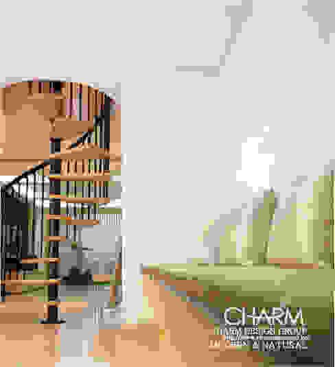 모던 내추럴 하우스: 참공간 디자인 연구소의  복도 & 현관