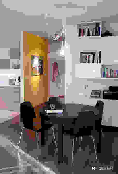 M+ DESIGN Marta Dolnicka Marchaj Minimalist dining room