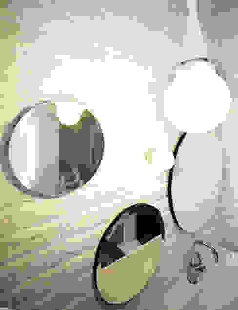 Remont łazienki małym kosztem: styl , w kategorii Łazienka zaprojektowany przez ANIEA Andrzej Niegrzybowski architekt,Skandynawski