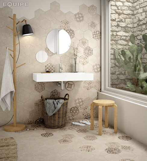 Rustic style bathroom by Equipe Ceramicas Rustic