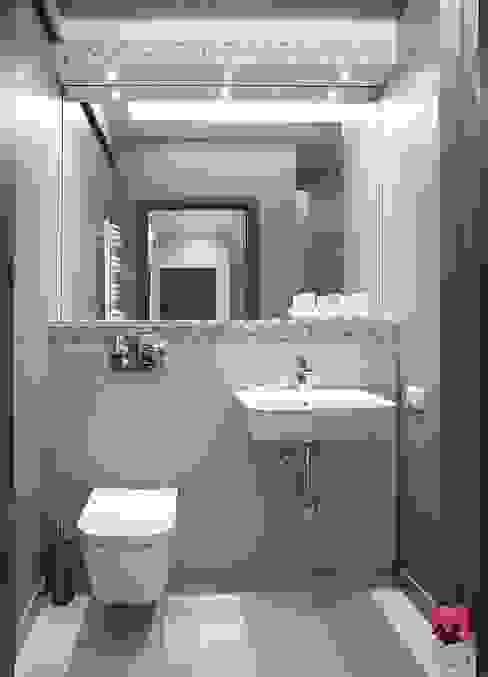 Mieszkanie w Łodzi - 48m2: styl , w kategorii Łazienka zaprojektowany przez Pink Pug Design Interior,Nowoczesny