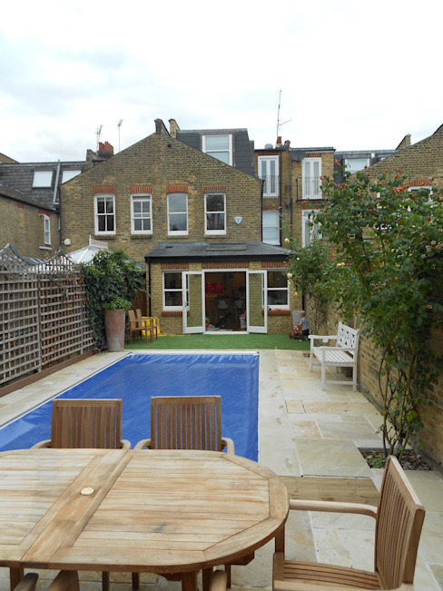 Fulham, London - rear extension, loft conversion and entire house renovation including inserting swimming pool by Zebra Property Group