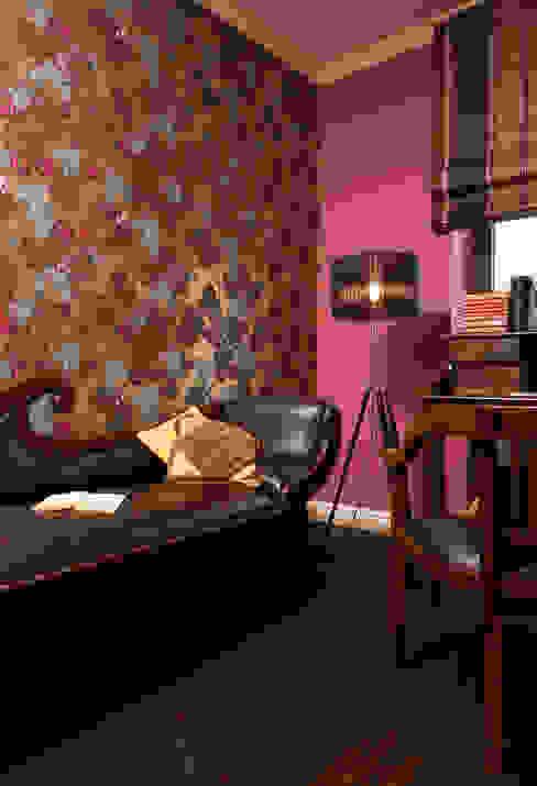 Dom Tancerzy Kolonialne domowe biuro i gabinet od Pracownia Projektowa Poco Design Kolonialny