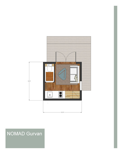 1 Bedroom -1 Bathroom Nomad de homify