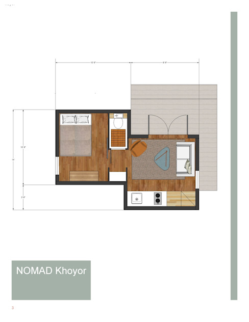 1 Bedroom on Suite,Livingroom,Kitchen de homify