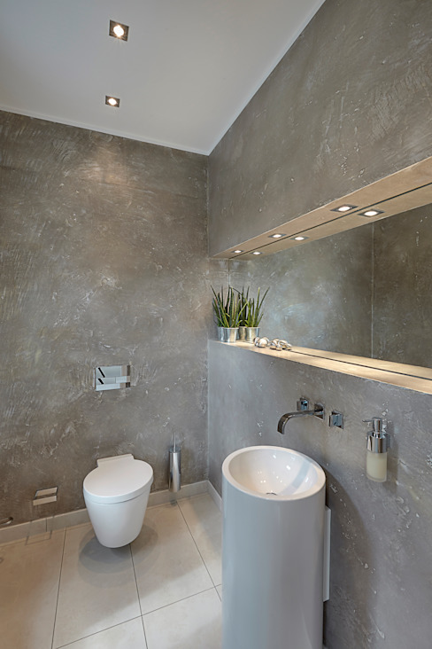 28 Grad Architektur GmbH:  tarz Banyo