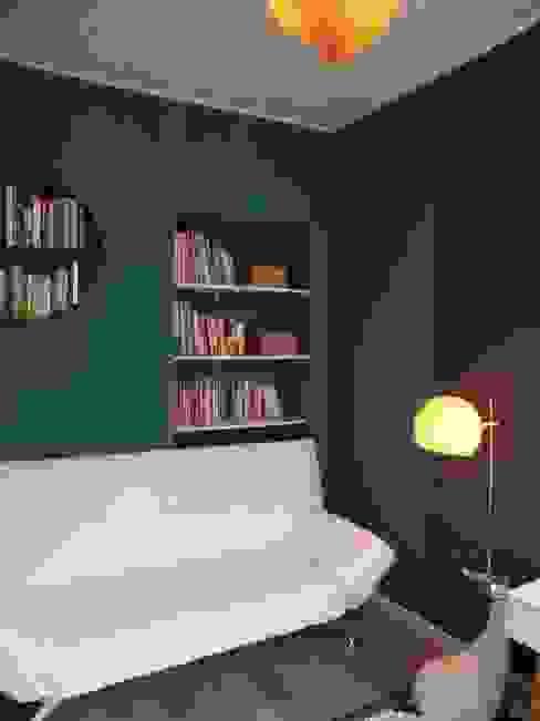 Despacho multifuncional Estudios y despachos de estilo moderno de 3 Moderno