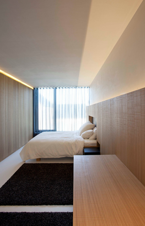 Veeckman - Gélis Chambre minimaliste par Egide Meertens Plus Architecten Minimaliste