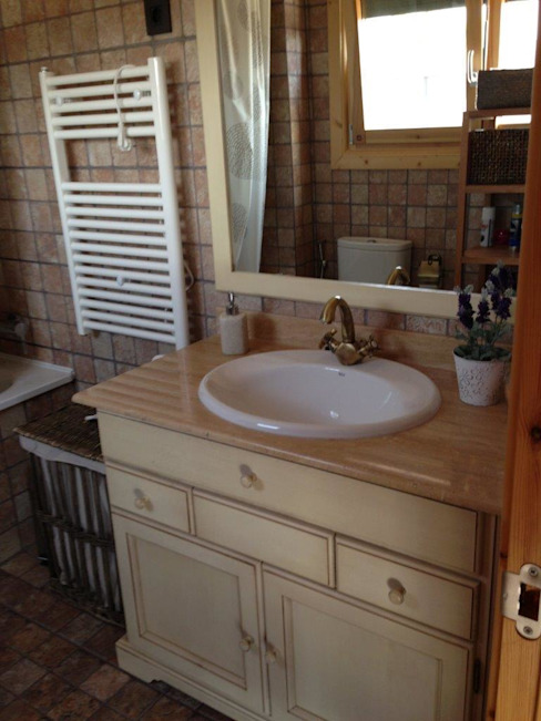 Rustic style bathrooms by Casas Natura Rustic