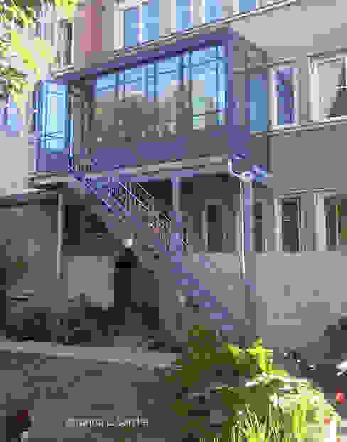Extension L Balcon, Veranda & Terrasse originaux par Tréma Éclectique