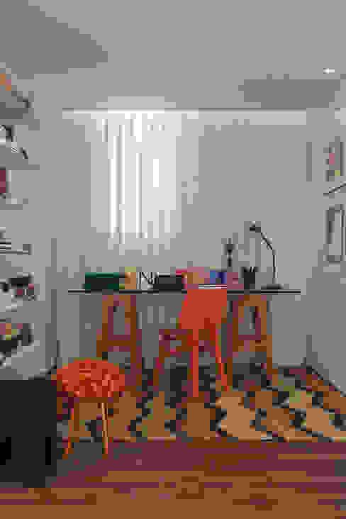 Oficinas y bibliotecas de estilo moderno de Nara Cunha Arquitetura e Interiores Moderno