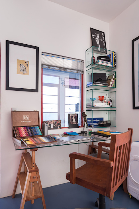 Eclectic style study/office by Blacher Arquitetura Eclectic