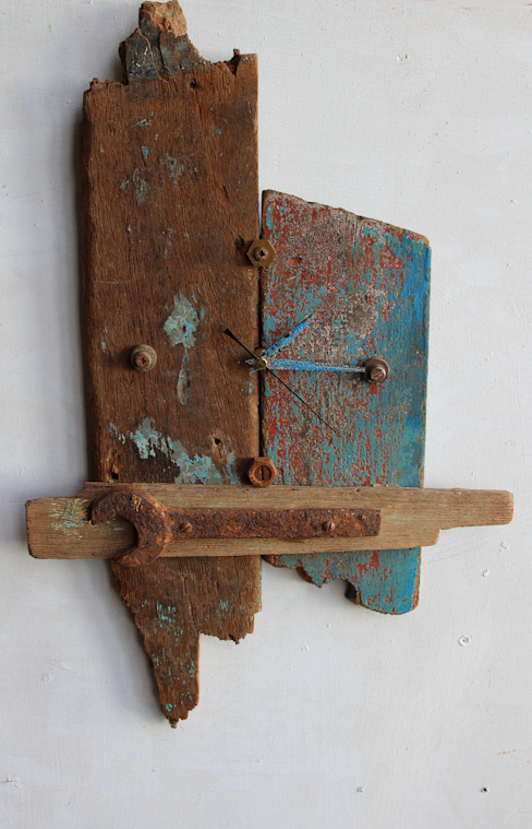 Driftwood clocks de Julia's Driftwood Rústico