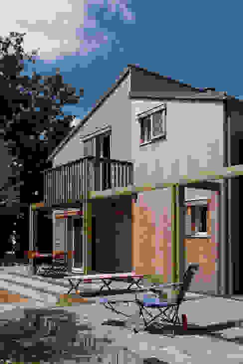 Terrasse & pergola Maisons modernes par Patrice Bideau a.typique Moderne