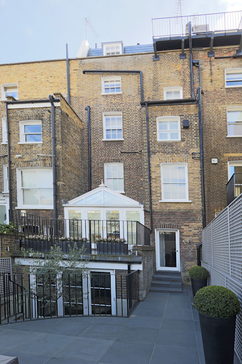 double mansard loft conversion chelsea Modern houses by homify Modern