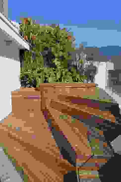 Jacuzzi Varandas, alpendres e terraços modernos por House in Rio Moderno