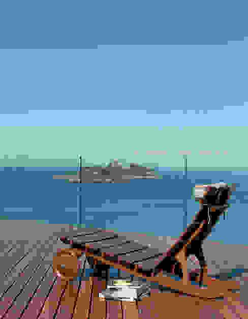 Vista terraço Varandas, alpendres e terraços modernos por House in Rio Moderno