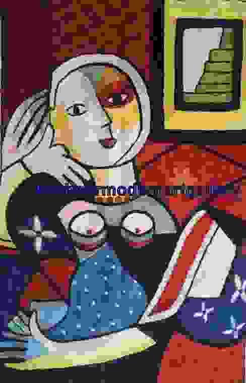 picasoo silk Wall art rug: modern  by kashmir modernart gallery,Modern
