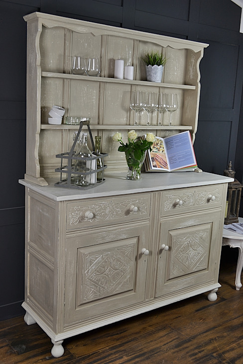 Shabby Chic Antique Oak Kitchen Dresser : country  by The Treasure Trove Shabby Chic & Vintage Furniture, Country