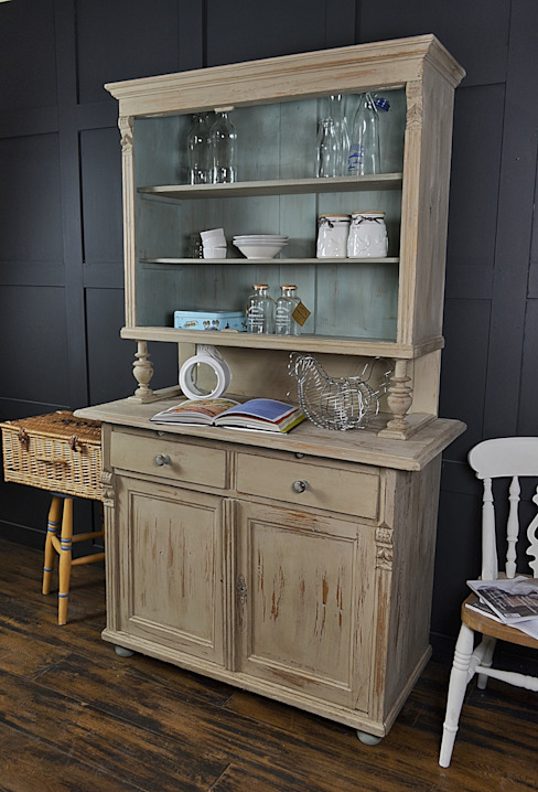 Shabby Chic Antique French Farmhouse Dresser The Treasure Trove Shabby Chic & Vintage Furniture KitchenStorage