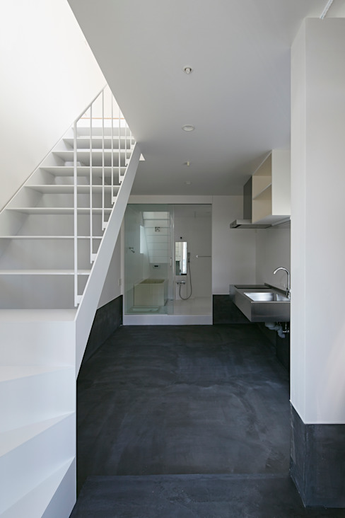 sandwich apartment: 池田雪絵大野俊治 一級建築士事務所が手掛けたダイニングです。,オリジナル