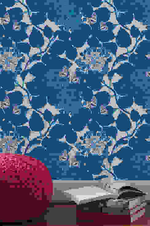 Hydrangea Garden, Wallpaper : modern  by Camilla Meijer, Modern