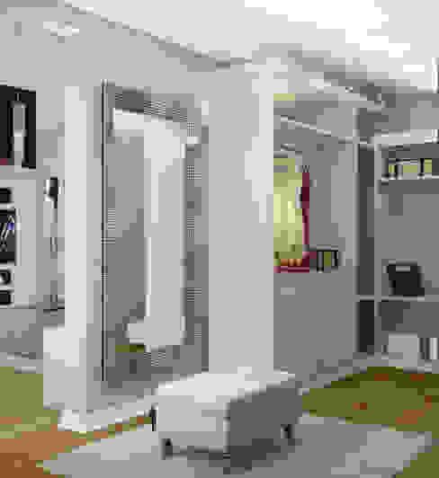 Гардеробная 2 этаж при спальне: Гардеробные в . Автор – Универсальная история,