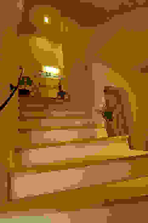 土佐漆喰の家 オリジナルスタイルの 玄関&廊下&階段 の 大森建築設計室 オリジナル