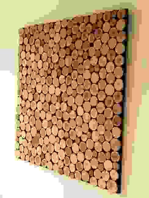 Schilderij woodslices : modern  door Woodlovesyou&more, Modern