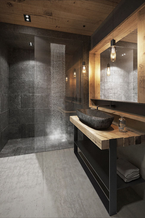 Casas de banho modernas por razoo-architekci Moderno
