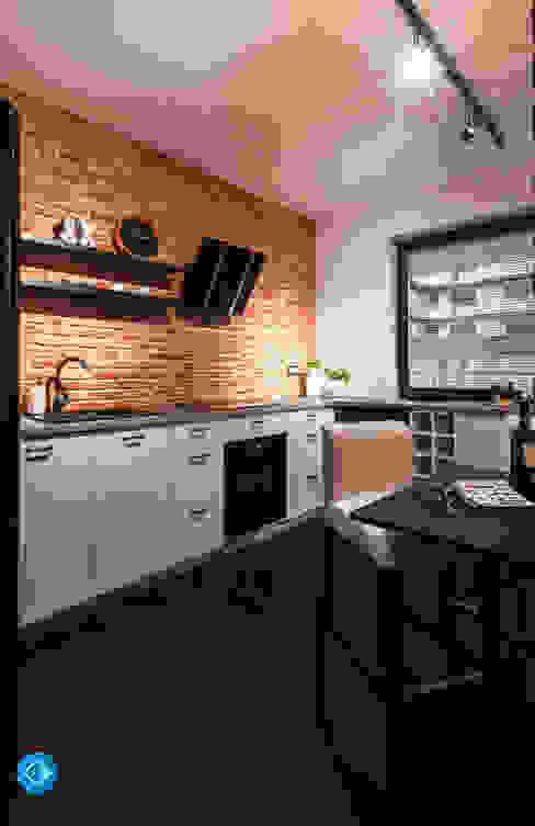 mieszkanie kawalera: styl , w kategorii Kuchnia zaprojektowany przez Anna Krzak architektura wnętrz,Skandynawski