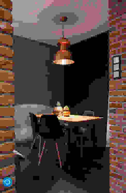 mieszkanie kawalera Industrialna jadalnia od Anna Krzak architektura wnętrz Industrialny