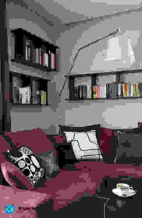modern home: styl , w kategorii Salon zaprojektowany przez Anna Krzak architektura wnętrz,Nowoczesny